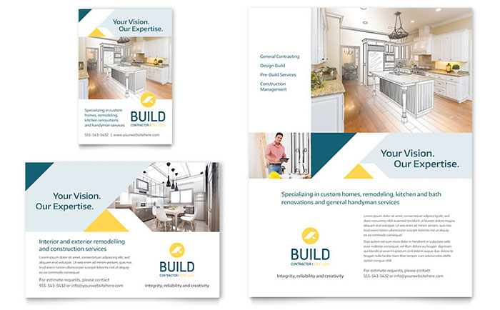 Contractor Flyer Amp Ad Template Design