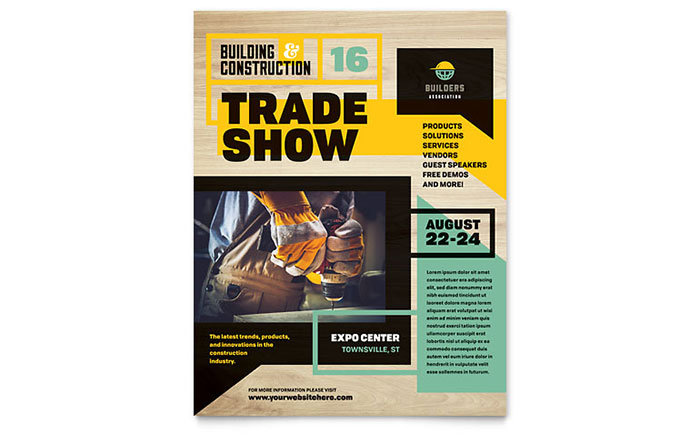 Builder's Trade Show Flyer Template Design