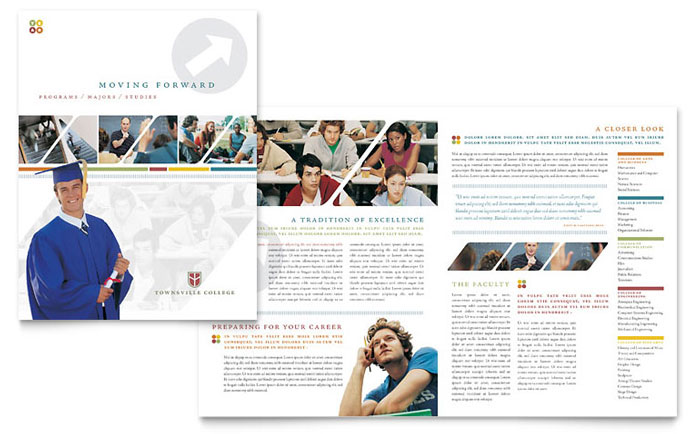 College university brochure template design for College brochure templates free download