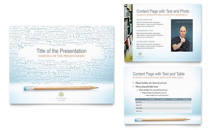 academic tutor  u0026 school powerpoint presentation template