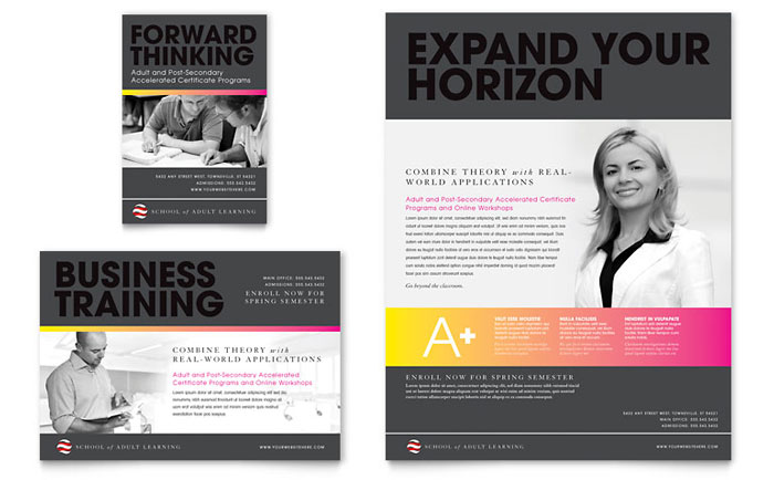 College University Flyer Templates – University Brochure Template
