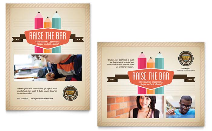 Tutoring School Brochure Template Design