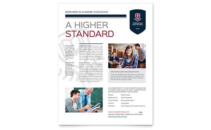 high school flyer template design