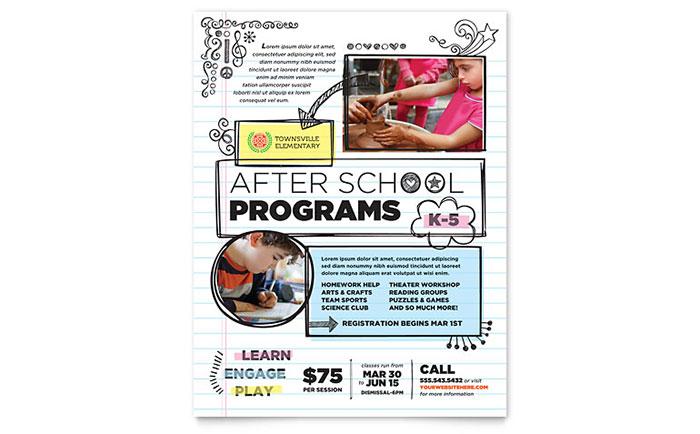 Elementary School Flyer Template Design