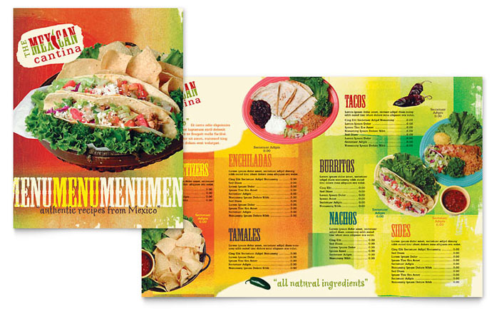 Mexican Restaurant Menu Template Design
