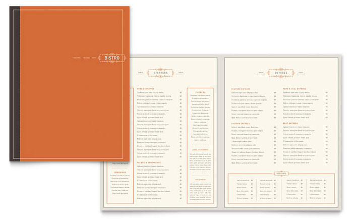 Bistro Bar Menu Template Design – How to Make a Restaurant Menu on Microsoft Word