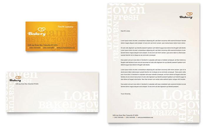 artisan bakery business card  u0026 letterhead template design