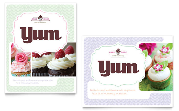 Pastry Cake Shop Marketing Designs 171 Graphic Design Ideas