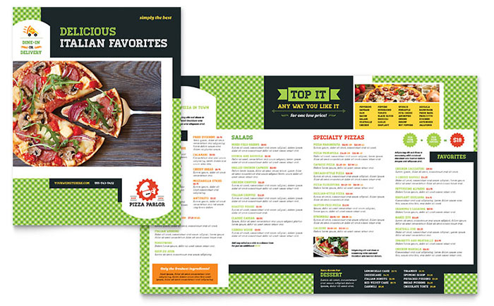 Free Restaurant Menu Templates – Menu Sample