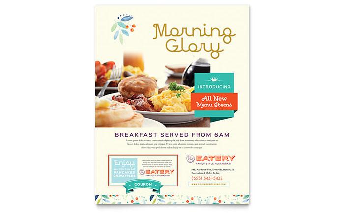 Family Restaurant Flyer Template Design