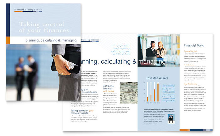 financial planning  u0026 consulting brochure template design