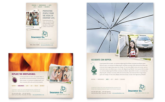 life insurance company flyer  u0026 ad template design
