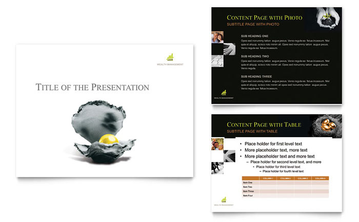 financial planning  presentation templates  financial services, Templates