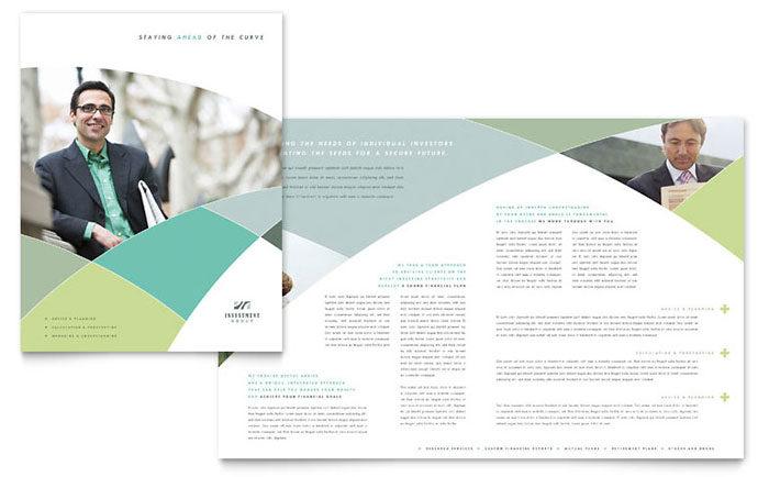 free bank brochure template - financial advisor brochure template design