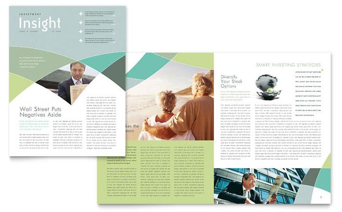 financial advisor newsletter template design. Black Bedroom Furniture Sets. Home Design Ideas