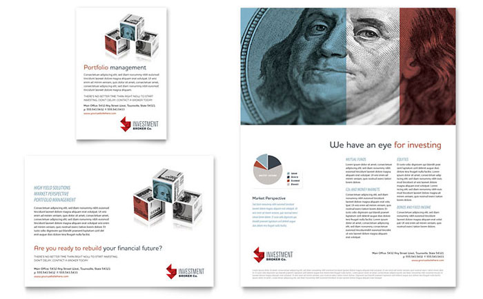 investment bank flyer  u0026 ad template design