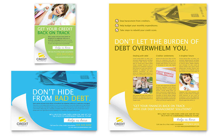 Financial Services Print Ads | Templates & Designs