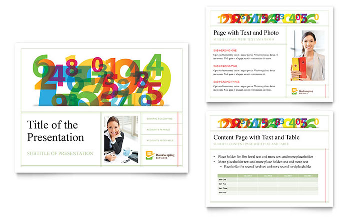 Bookkeeping Services PowerPoint Presentation Template Design