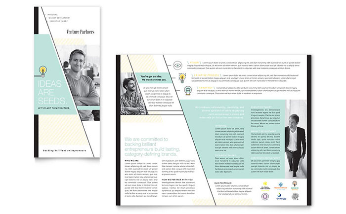 Venture Capital Firm - Tri-Fold Brochure Design Example