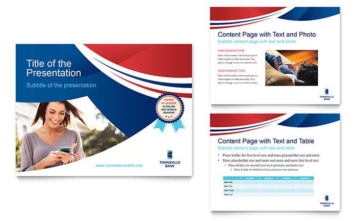 bank powerpoint presentation template design