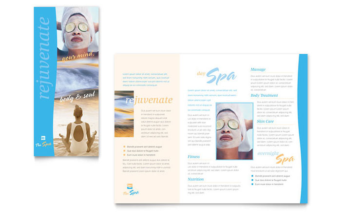 salon brochure templates - beauty spa brochure template design