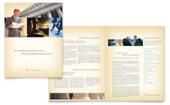 Attorney legal services brochure template design for Legal brochure template