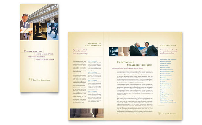 attorney legal services brochure template design. Black Bedroom Furniture Sets. Home Design Ideas