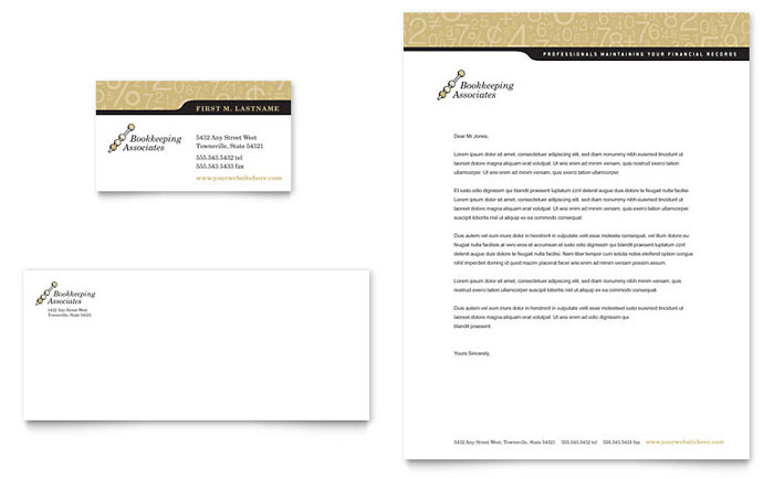 bookkeeping accounting services business card
