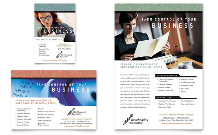 Services Flyer Template All Templates Flyers Bookkeeping Accounting