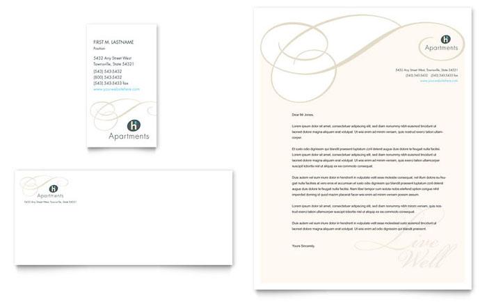 apartment  u0026 condominium business card  u0026 letterhead