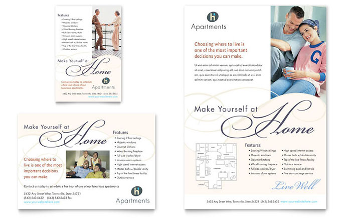 apartment flyers free templates - apartment condominium flyer ad template design