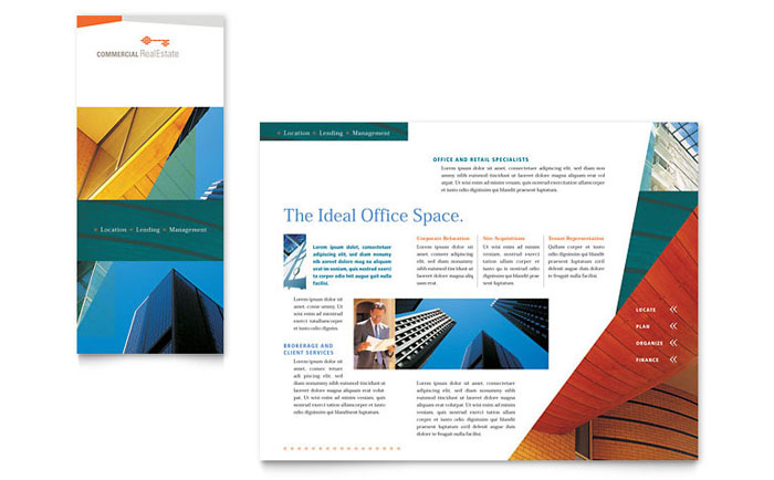 Commercial Real Estate Property Brochure Template Design