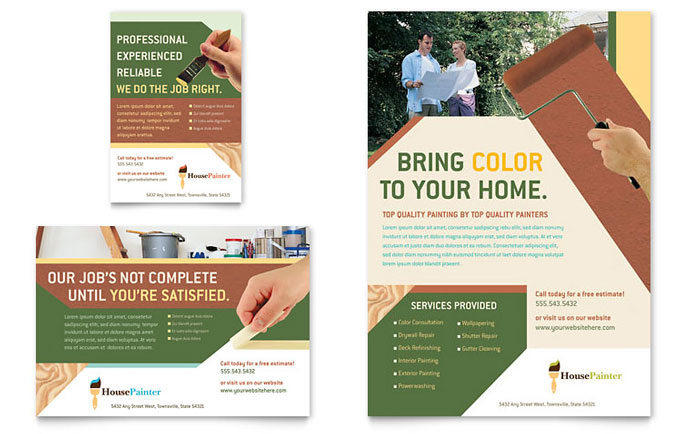 Painter & Painting Contractor Flyer & Ad Template Design