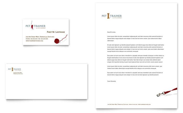 pet training  u0026 dog walking business card  u0026 letterhead