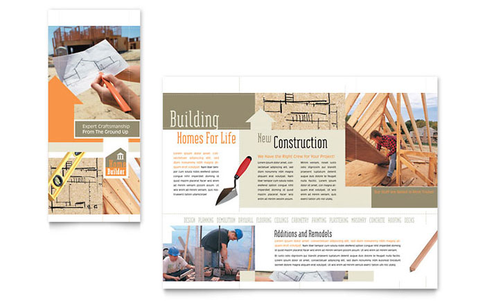 Home Building Carpentry Brochure Template Design