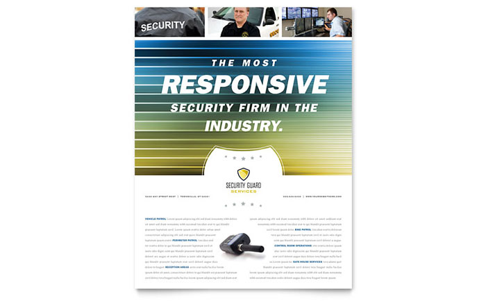 Security Guard Flyer Template Design