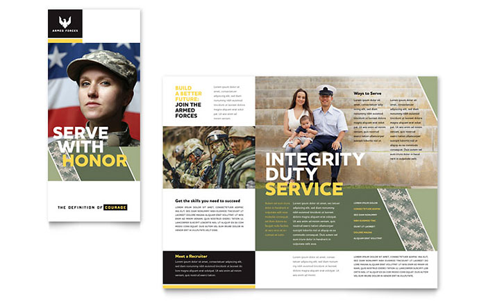 Military Brochure Template Design