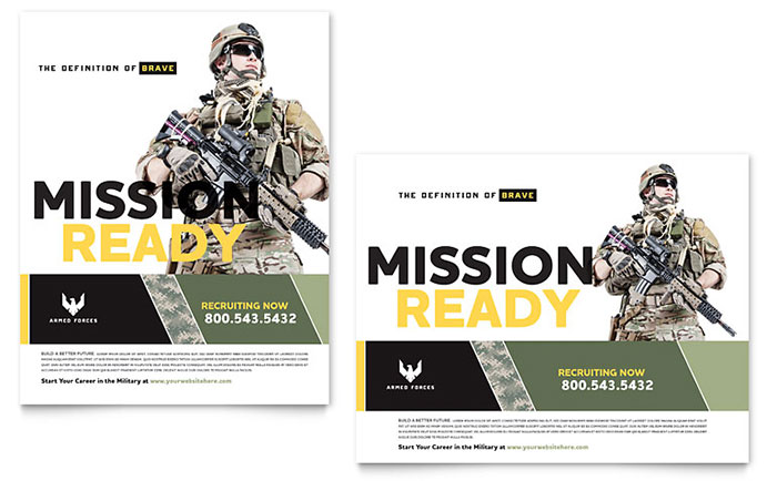 recruitment brochure template - military poster template design