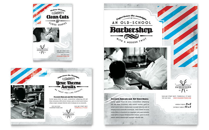 Barbershop Flyer & Ad Template Design