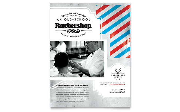 barbershop flyer template design