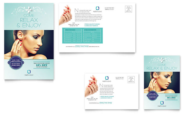 Postcard Example - Nail Technician