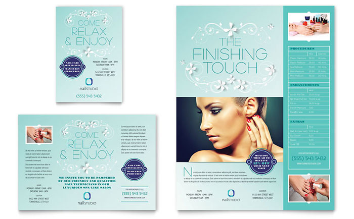 Beauty & Nail Salon | Print Ad Templates | Health & Beauty