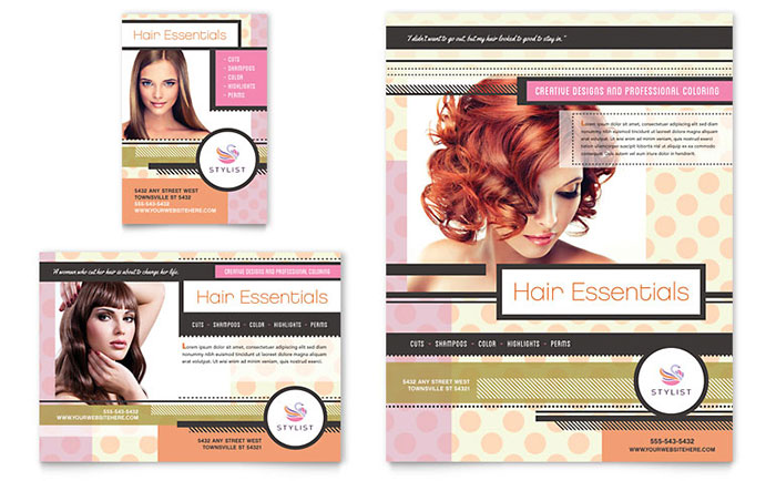hairstylist flyer  u0026 ad template design