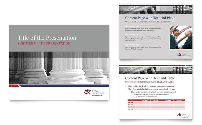 Legal & Government Services PowerPoint Presentation Template Design
