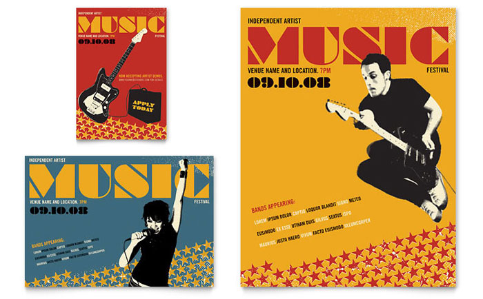 Music School Brochure Template Design – Music Brochure