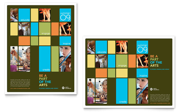 Arts Council & Education Poster Template Design