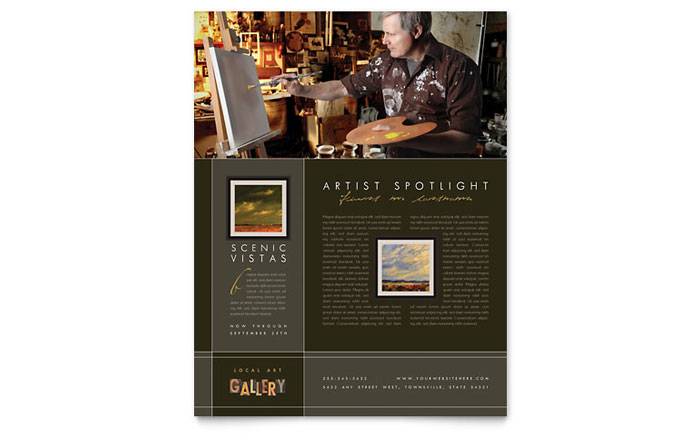 Art Gallery & Artist Flyer Template Design