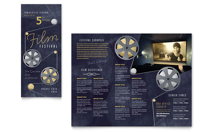Film Festival Brochure Template Design MA0100101 on Real Estate Flyer Templates Free Microsoft Word