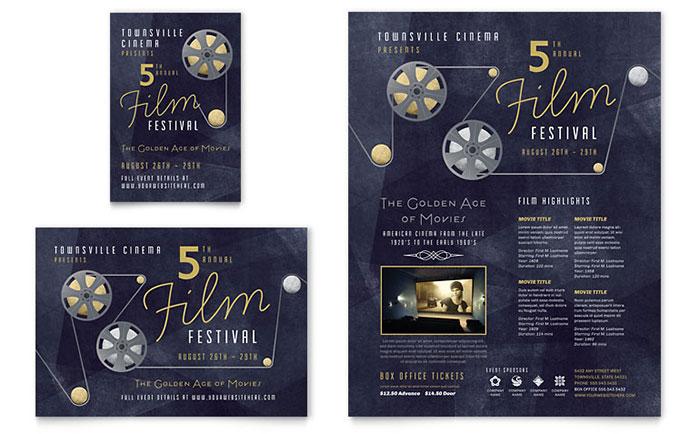 Film Festival Flyer Amp Ad Template Design
