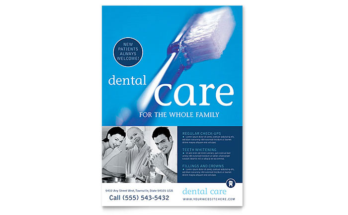 dentist office flyer template design